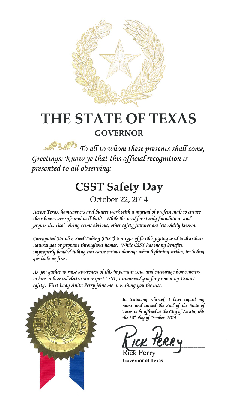 CSST Safety Day in Texas